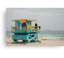 miami beach colours Canvas Print