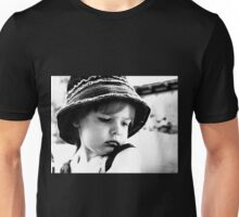 Little Girl Wearing A Hat Unisex T-Shirt