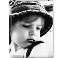 Little Girl Wearing A Hat iPad Case/Skin
