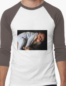 Safe In My Dad's Arms Men's Baseball ¾ T-Shirt