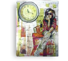Tame It With A Clock Canvas Print