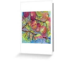 Pick Your Own Plums Greeting Card