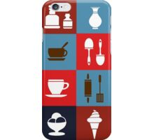Household items on a colorful background iPhone Case/Skin