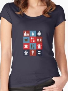 Household items on a colorful background Women's Fitted Scoop T-Shirt