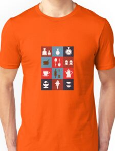 Household items on a colorful background Unisex T-Shirt