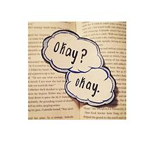 """The Fault in Our Stars """"Okay?"""" """"Okay."""" by sunbaenim"""