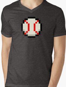 Pixel Baseball Mens V-Neck T-Shirt