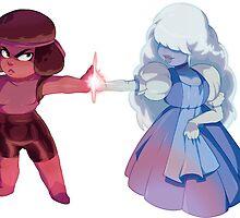 ruby&sapphire steven universe by StevenFanBoi