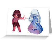 ruby&sapphire steven universe Greeting Card