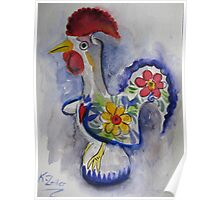 Good luck rooster Poster
