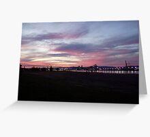 Lewis & Clark bridge at sunset Greeting Card
