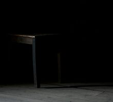 Stool in the Dark - Breendonk Concentration Camp by Jenna Ebert Photography