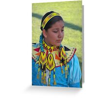Beautiful Native American Girl Greeting Card