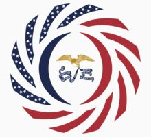 Iowa Murican Patriot Flag Series Kids Clothes
