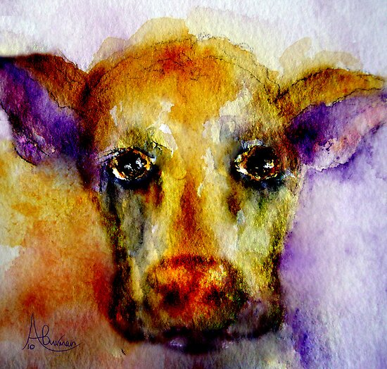 Mooooooooody Cow by Angela  Burman