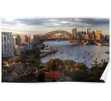 A Little Ray Of Sunshine - Sydney Harbour - The HDR Experience Poster