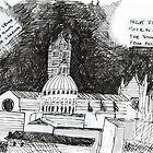 Italy- Siena's Duomo, a night sketch by James Lewis Hamilton