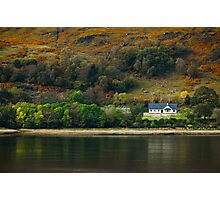 Little House on the Loch Photographic Print