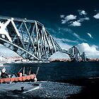 Infrared Forth Rail Bridge by Malc Foy