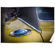 Yellow Dodge Charger Poster