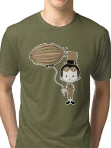 Little Inventor Flying His Airship Tri-blend T-Shirt