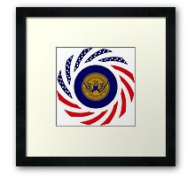 Atlanta Murican Patriot Flag Series Framed Print