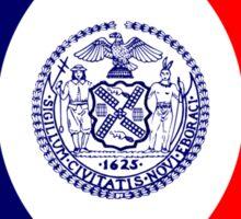 New York City Murican Patriot Flag Series Sticker