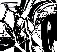 Abstracted Black & White by Jennifer Herrin