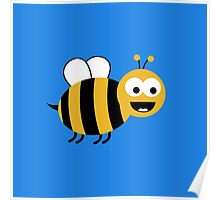 Funny Sweet Bee Poster