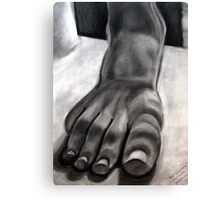 Foot Sculpture Canvas Print