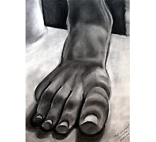 Foot Sculpture Photographic Print