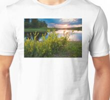 Summer Sunset on Rice River Unisex T-Shirt