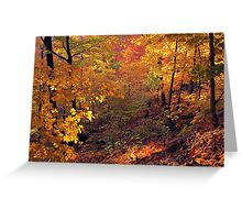 Fiery Forest Greeting Card