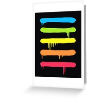 Trendy Cool Graffiti Tag Lines Greeting Card