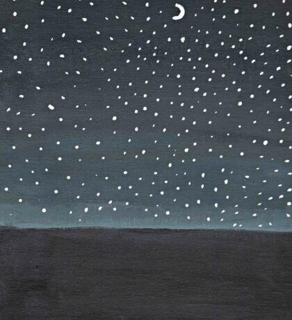 Stargazing ~ Galaxy Painting  Sticker