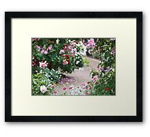 The enchanted path. Framed Print