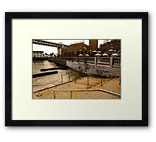 Stairs into Water, San Francisco Framed Print