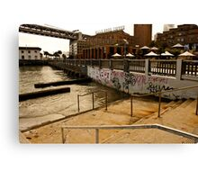 Stairs into Water, San Francisco Canvas Print