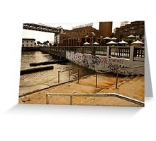 Stairs into Water, San Francisco Greeting Card