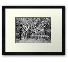 Scary Shack Framed Print