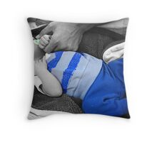 New Born, August Baker Throw Pillow