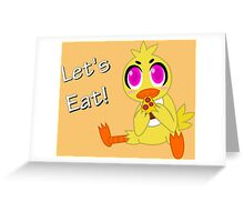 Chica and Pizza Greeting Card