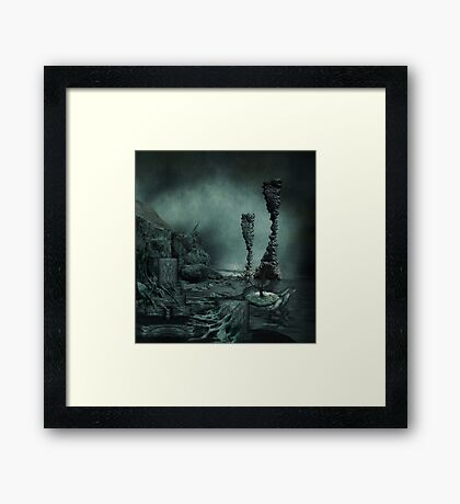 the perplexity of L O S T Framed Print