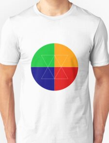 Colorful Geometry Circle Design T-Shirt
