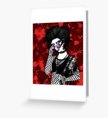 October the Vampire Greeting Card