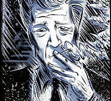 David Lynch Art illustration wild at heart eraserhead eraser head avant garde smoking twin peaks mulholland drive lost highway Joe badon by Joe Badon