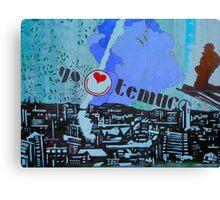 Mural..........Yo amo Temuco.... Canvas Print