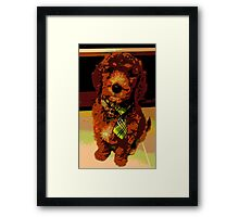 Posterised Pup Framed Print