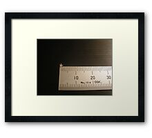 Born from the Cell - scale reference Framed Print