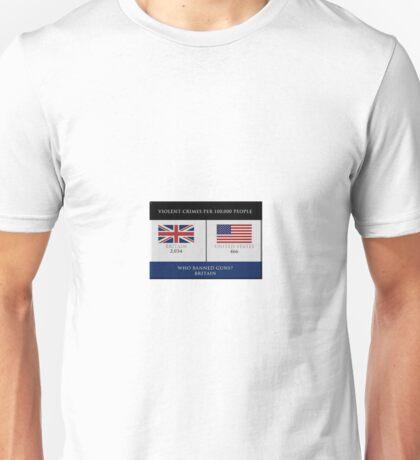 Gun Control Britain Vs USA  Unisex T-Shirt